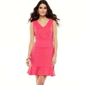 Jennifer Lopez   Pink Riveria Chic V Neck Dress